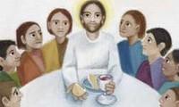 P SK Maaltijd delen-Jesus shares a meal  44/68